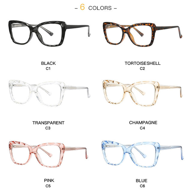 Square Women Glasses Frame Trending Styles Brand Design Optical Eyeglasses