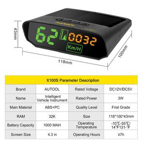 Image 5 - AUTOOL X100 GPS Speedometer Old Car Head UP Display Multifunction Digital Speed Altitude Meter Non OBD Automotive Electronic HUD