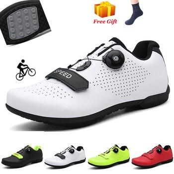Homens sapatos de ciclismo ao ar livre formadores profissionais de corrida rode sapatos de bicicleta de borracha mtb especializada tênis 1