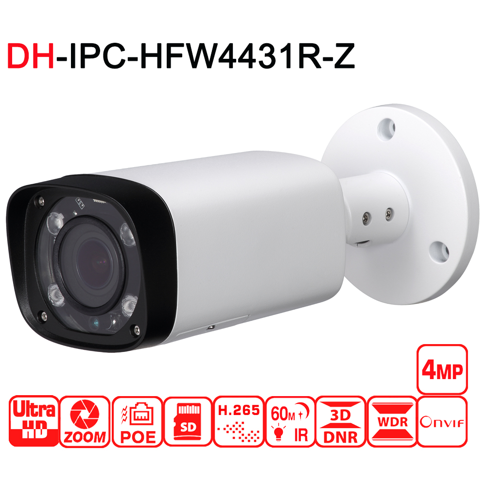 4MP IP IPC HFW4431R Z Cámara Newwork 2,7 13,5mm, objetivo VF IP67 cámara de red Bullet con la cámara IP exterior de POE envío gratis-in Cámaras de vigilancia from Seguridad y protección on AliExpress - 11.11_Double 11_Singles' Day 1