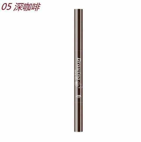 2 w 1 4 końcówka Microblading dwustronny wodoodporny, długi, trwały długopis do brwi + płynny eyeliner Pecil Cosmetic TSLM2