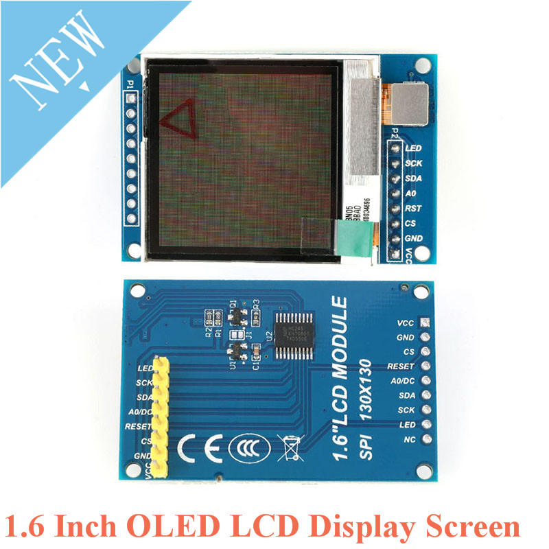 "1.6 Inch OLED LCD Display Screen Module 1.6"" TFT IPS Serial Port 130*130 SSD1283 Communicate Screen Controller for Arduino"