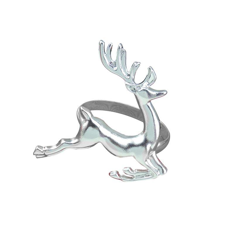 6 PCS Elk Deer Napkin Rings Dinner Table Decorative Ornament for Wedding Parties
