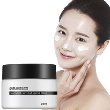 Nicotinamide Face Cream Whitening Tender Moisturizing Oil-Control Brighten Lazy Nude Concealer Makeup Skin Care 50g