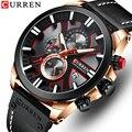 Мужские часы Curren лучший бренд класса люкс Спортивные кварцевые мужские водонепроницаемые часы хронограф наручные часы с календарем часы ...