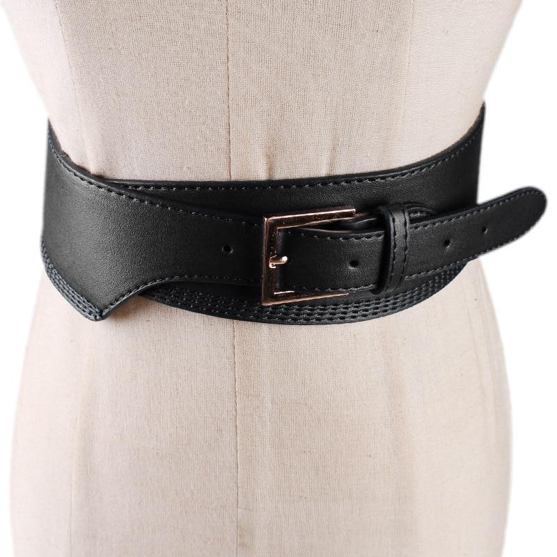 2020 High Fashion Solid Wide Belt Stylish Leather Belt Solid Corset Belt Waistband New Design Belts For Women Female Tide ZK835