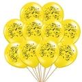 10 шт./лот 12 дюймов Зонт с миньонами желтого цвета латексный шар мультфильм надувные шары для маленьких девочек и мальчиков, игры на день рожд...
