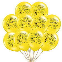 10 pçs/lote 12 polegada minioned amarelo látex balão dos desenhos animados infláveis balões criança menina menino jogo festa de aniversário decoração baloon