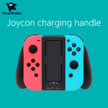 POWKIDDY Charging Grip For Switch Joy Controller Handle Grip Controller Charger Handle Holder Game Accessories