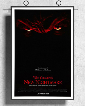 L160 WES CRAVENS NEW NIGHTMARE Movie Freddy Krueger 02 Silk Fabric Poster Art Decor Indoor Painting Gift image