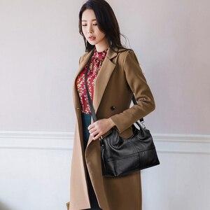 Image 5 - AUAU модные Лоскутные сумки через плечо, женские кожаные сумки, женские Сумки из искусственной кожи