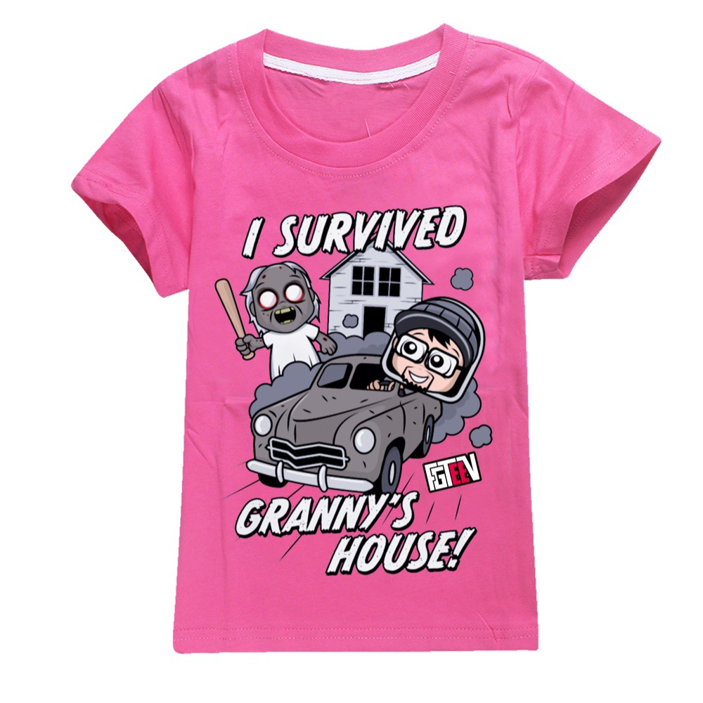 Kids Tops Toddler Boy Clothes 828 Cotton Fgteev Fashion Clothes  Blusas Mujer De Moda 2021 Verano Girls Pink T Shirt Teens Shirt 2