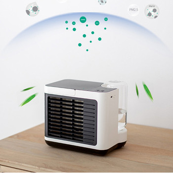 2021 New Usb Charging Negative Ion Air Conditioning Fan Desktop Air Cooler Small Mini Water Cooling Fan 1