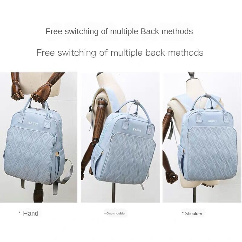 2020 New Fashion Backpack Diaper Bag Portable Lightweight Monther Backpack Solid Large Capacity Newborn Baby Maternity Bags