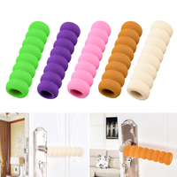 2Pcs Spiral Door Handle Gloves Anti Collision Protective Cover Children Safety Doorknob Glove Home Safety Decorations For home