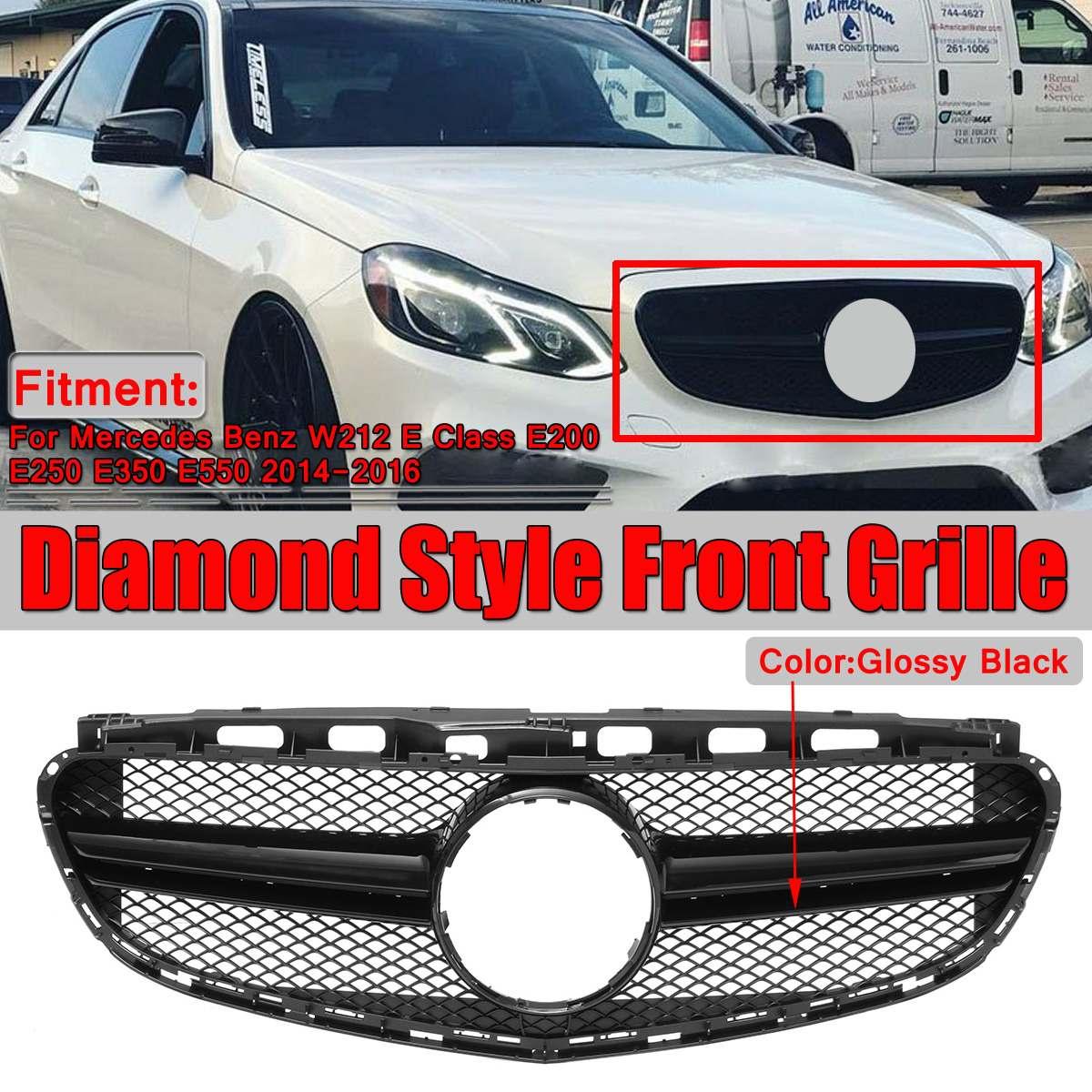 E63 Look Style W212 Grill Diamond Car Front Grill Grille For Mercedes For Benz W212 E Class E200 E250 E350 E550 2014 2015 2016