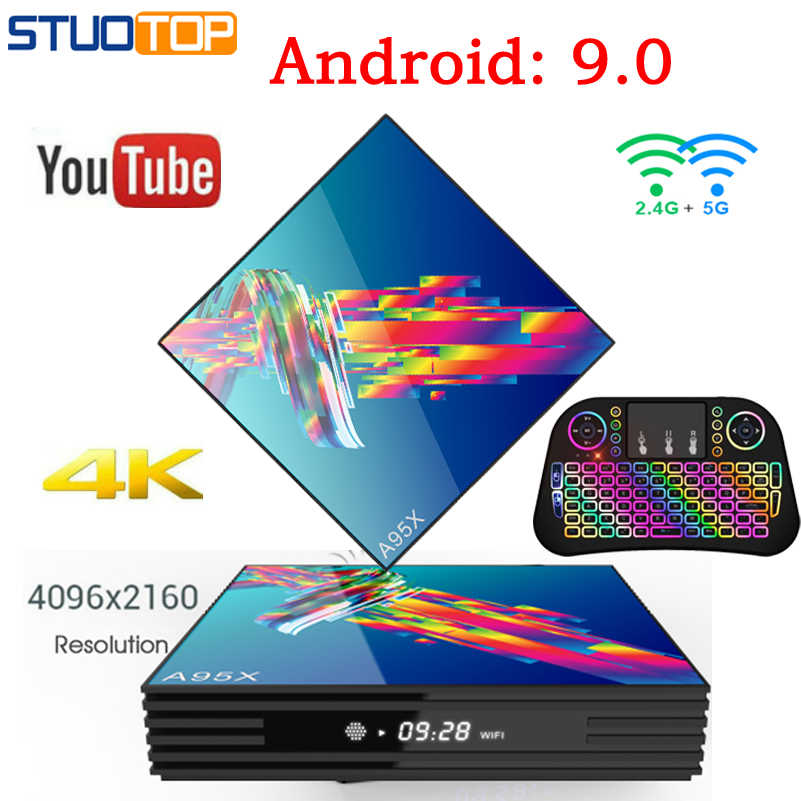 A95X R3 Inteligente Android 9.0 Tv Box IPTV Set Top Box RK3318 Mi ni 2.4G & 5G Dupla WI-FI 4 K 3 D Quad Core media playe 2G 64 32 4G G G