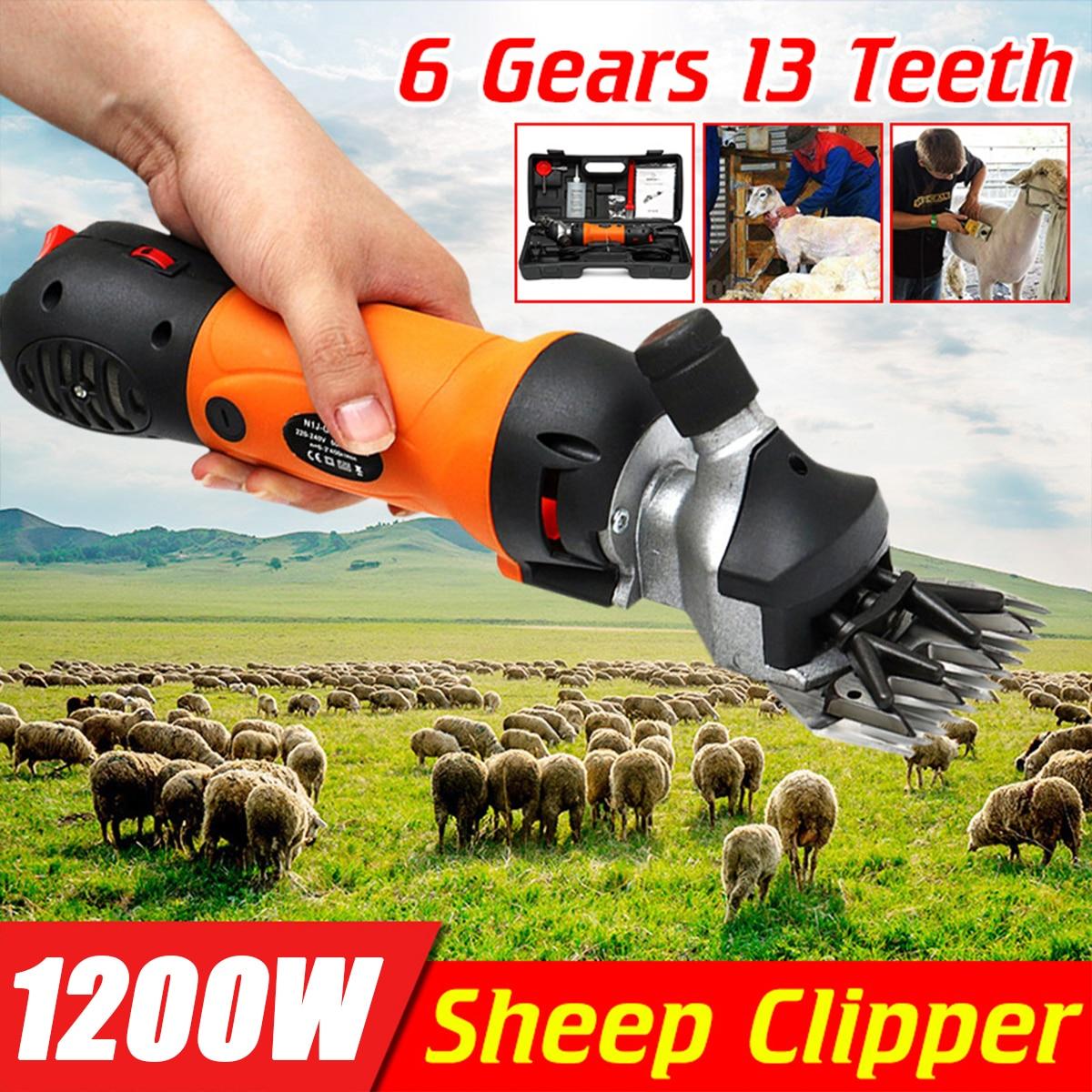 1200W 110V220V Electric Sheep Pet Hair Clipper Shearing Kit Wool Cut Goat Horse Animal Shearing Supplies Farm Scissor