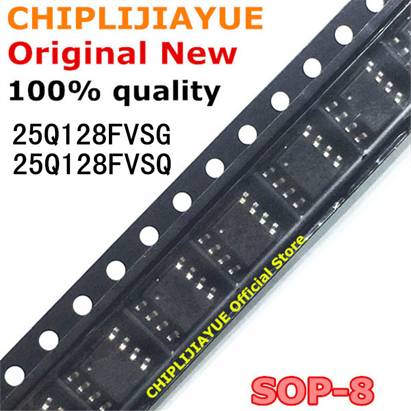 10PCS 25Q128FVSQ W25Q128FVSQ 25Q128FVSG W25Q128FVSG SOP-8 SOP 25Q128 SOP8 SMD New And Original IC Chipset
