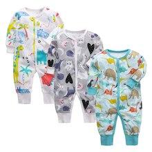 High Quality Soft Newborn Clothing Baby Rompers Cartoon prin
