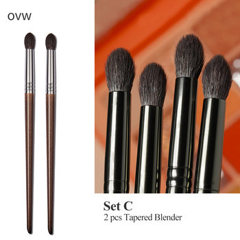 OVW Cosmetic 2/6 pcs Goat Hair Makeup Eye Shadow Brush Set Tool Ultra Soft Make Up Tapered Blender Diffuse Kit Cut Crease Brush 3