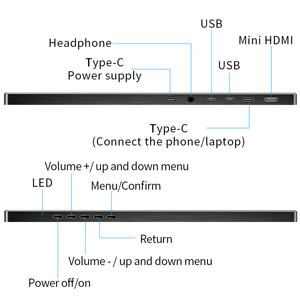 Image 4 - ポータブルモニター15.6インチ液晶usbタイプc hdmiゲームモニターips 1080 1080p hdディスプレイPS4ノートパソコンの電話xboxスイッチpcケース