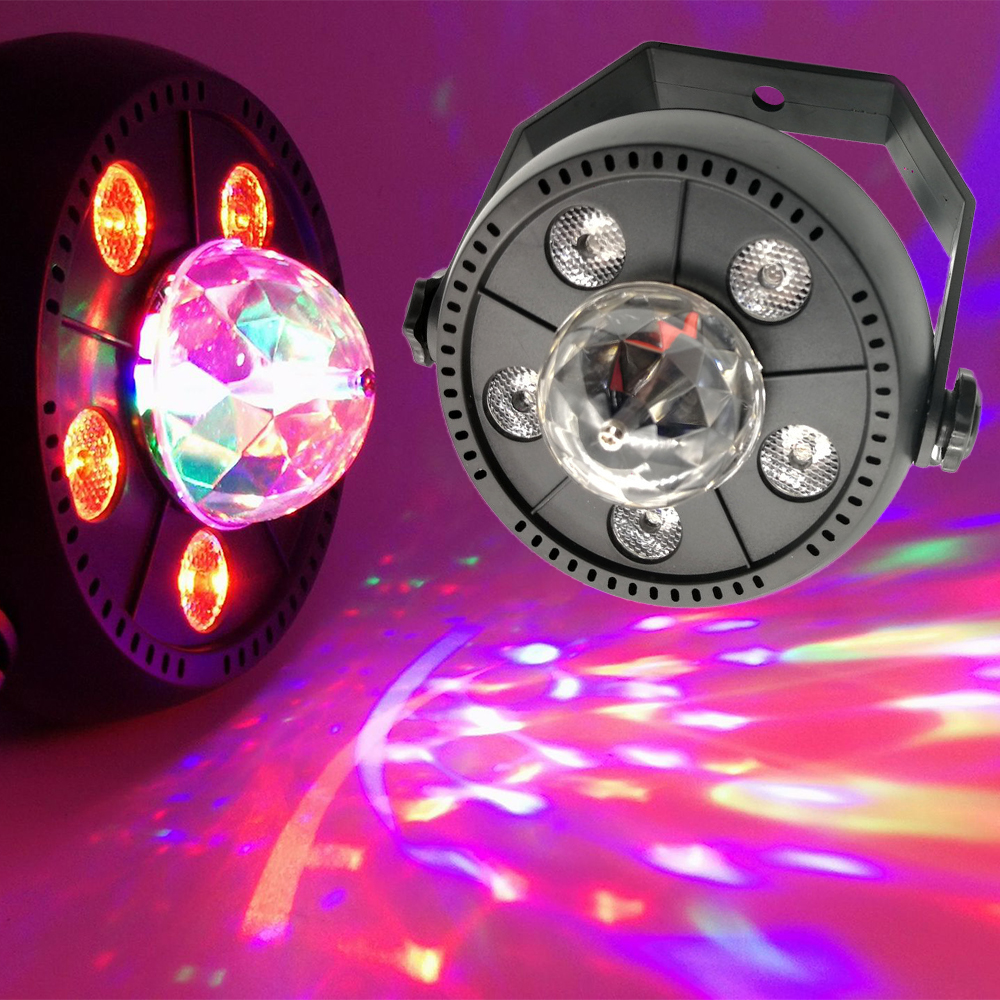 11W AC90V 240V Mini Auta Rotating LED Stage Lighting RGB Colorful DJ Light LED Stage Light For DJ KTV Disco Party D30 in Stage Lighting Effect from Lights Lighting