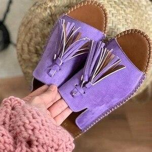 2020 New Tassel Women Shoes Sa