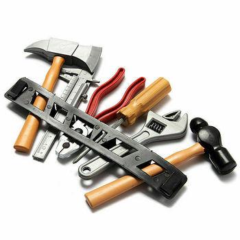 1 Juego de Kits de herramientas de construcción para niños y niños, regla de regalo de plástico para construcción DIY, destornillador de martillo, juguete educativo para niños