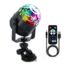 LED RGB Light Ball Lamp USB Charging Remote Control for Car Disco Stage Wedding Party WWO66