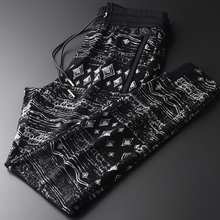 Minglu Soft Mens Pants Luxury Yarn-dyed Fabric Leisure Sports Men Pant