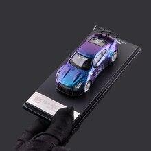 Время модель 1/64 Nis GTR R35 Skyline супер GT автомобиля, которые могут изменить свой цвет формовая игрушка 1:64 супер модель автомобиля с Чехол