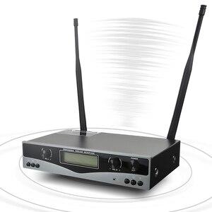 Image 3 - سوم SKM9100 أداء مسرحي منزلي KTV جودة عالية UHF احترافي مزدوج ميكروفون لاسلكي نظام ديناميكي للمسافات الطويلة