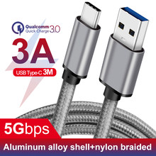 3m 10ft long Cable USB C 3A fast charge for Nintendo USB 3.1 C Type Cable for USBC Charger Samsung xiaomi huawei ZUK LG Phone(China)