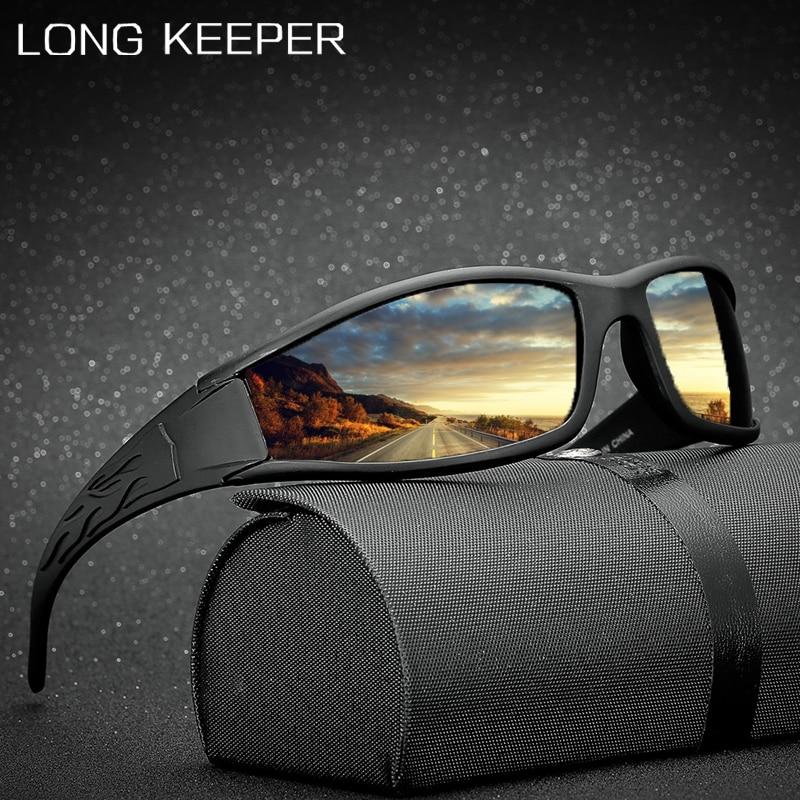 LongKeeper Men Polarized Sun Glasses Male Brand Car Driving Anti-Glare Sunglassses Vintage Outdoor Sport Fishing Goggles UV400