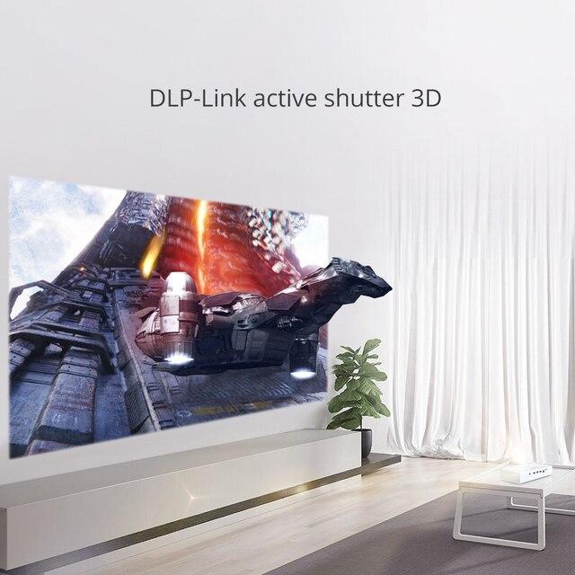 BYINTEK Mini 3D Projector R19 4K ,Smart Wifi Android Beamer, 4