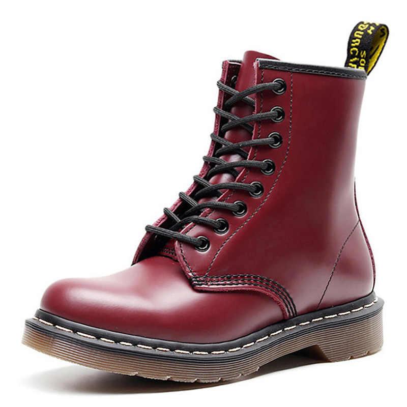 2019 รองเท้าบู๊ทสำหรับ Martin BOOTS PLUS ขนาด 43 ข้อเท้ารองเท้าบูทสำหรับสุภาพสตรี Dr. รถจักรยานยนต์หญิงฤดูหนาวรองเท้าคู่ booties