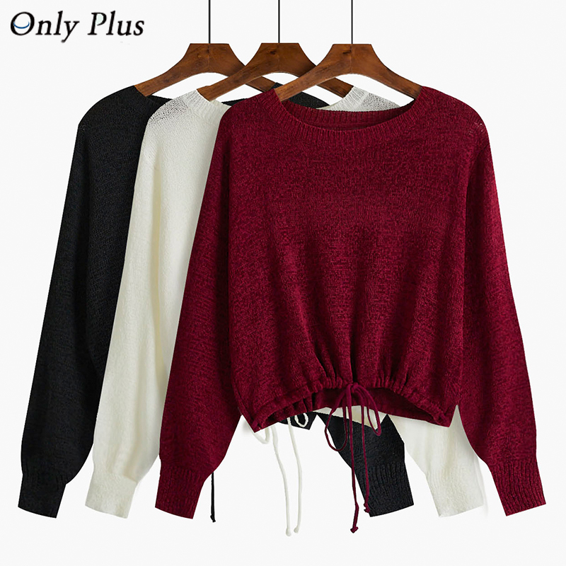 2019 New Knitted Sweater Women's Thin Loose Autumn Winter Version Pullover Long Sleeve Casual Female Sweaters Tops