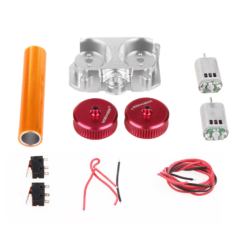 Worker Modified Parts Set Toy Accessories for Nerf STF/CS-18(Precise Type) - Red + Silver Flywheel Motor Parts