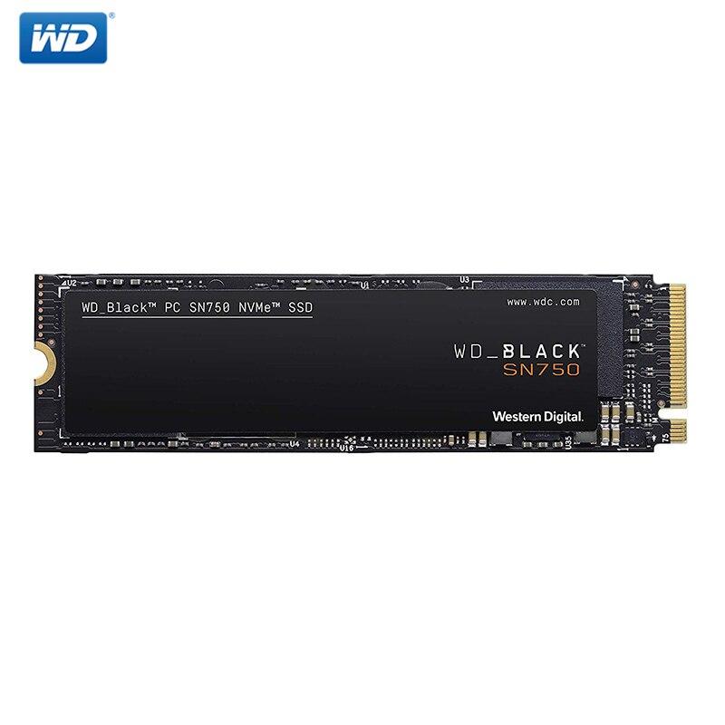Disque SSD interne Western Digital M2 WD noir SN750 SSD 1 to 250GB 500GB M.2 2280 SSD NVMe Gen3 PCle 3D Nand SSD pour PC