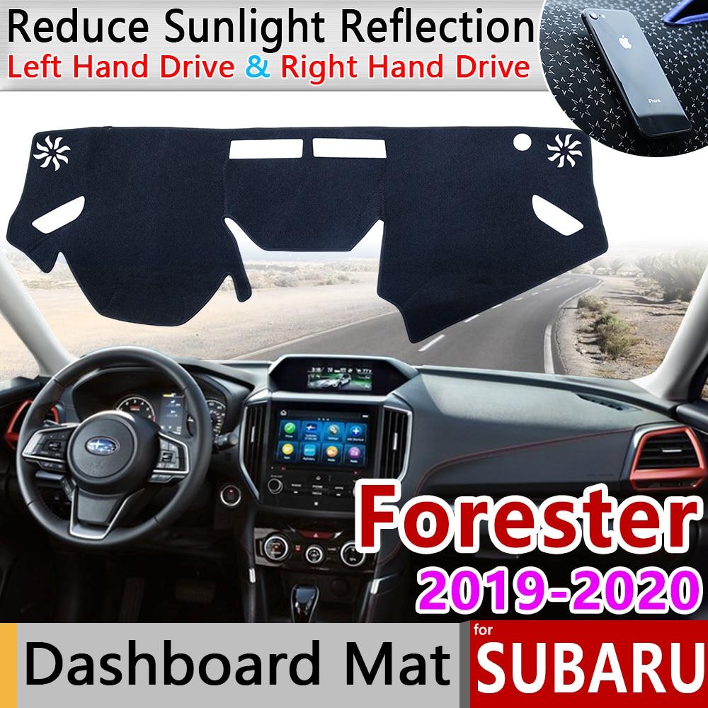 For Subaru Forester 2019 2020 SK Anti-Slip Mat Dashboard Cover Pad Sunshade Dashmat Protect Carpet Anti-UV Car Accessories Rug