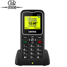 For Elderly Man 2G GSM Mobile Phone Russian keyboard SOS Wireless FM 1000mAh Dual sim Unlock Cellphone 1.77