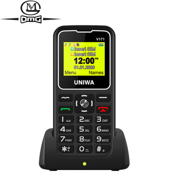 For Elderly Man 2G GSM Mobile Phone Russian keyboard SOS Wireless FM 1000mAh Dual sim Unlock Cellphone 1.77 Charging Dock m281 2g gsm desk phone sim based wireless landline telephone