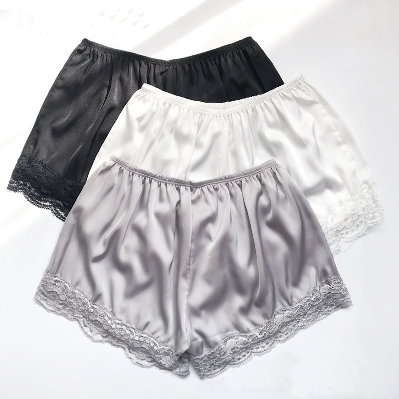 2019 Women's   Shorts   Summer New Style Fashion Anti-lighting Thin Lace   Shorts   Ice Silk Solid Color Thin Section   Shorts
