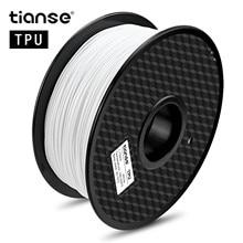 TIANSE TPU 3D Printer 1KG 1.75mm PLA Filament Printing Materials Colorful For Extruder Pen Rainbow Plastic Accessorie