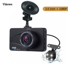 Vikewe Mini DVR Mobil Kamera HD 1080P 3 ''IPS Dash Cam Dual Lensa Malam Visi Perekam Video Mobil g-Sensor Parkir Monitor Dashcam(China)