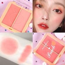 Palette de fards à joues pour le visage, 4 couleurs, poudre minérale, maquillage naturel, longue durée, Orange, rose, pêche, Rouge