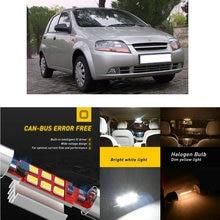 LED Interior Car Lights For DAEWOO kalos klas hatchback saloon cabrio kj Dome map lamp bulb error free