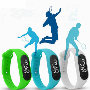 Clock Watches LED Digital Silicone Electronic Student Adult Casual Wrist with Shell-Adjustment