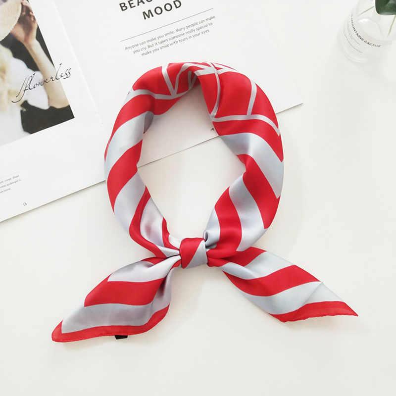 70cm 스퀘어 여성 실크 스카프 스트 라이프 귀여운 작은 두건 화려한 여성 머리띠 스웨터 neckwear 소프트 foulard 새로운 fj033